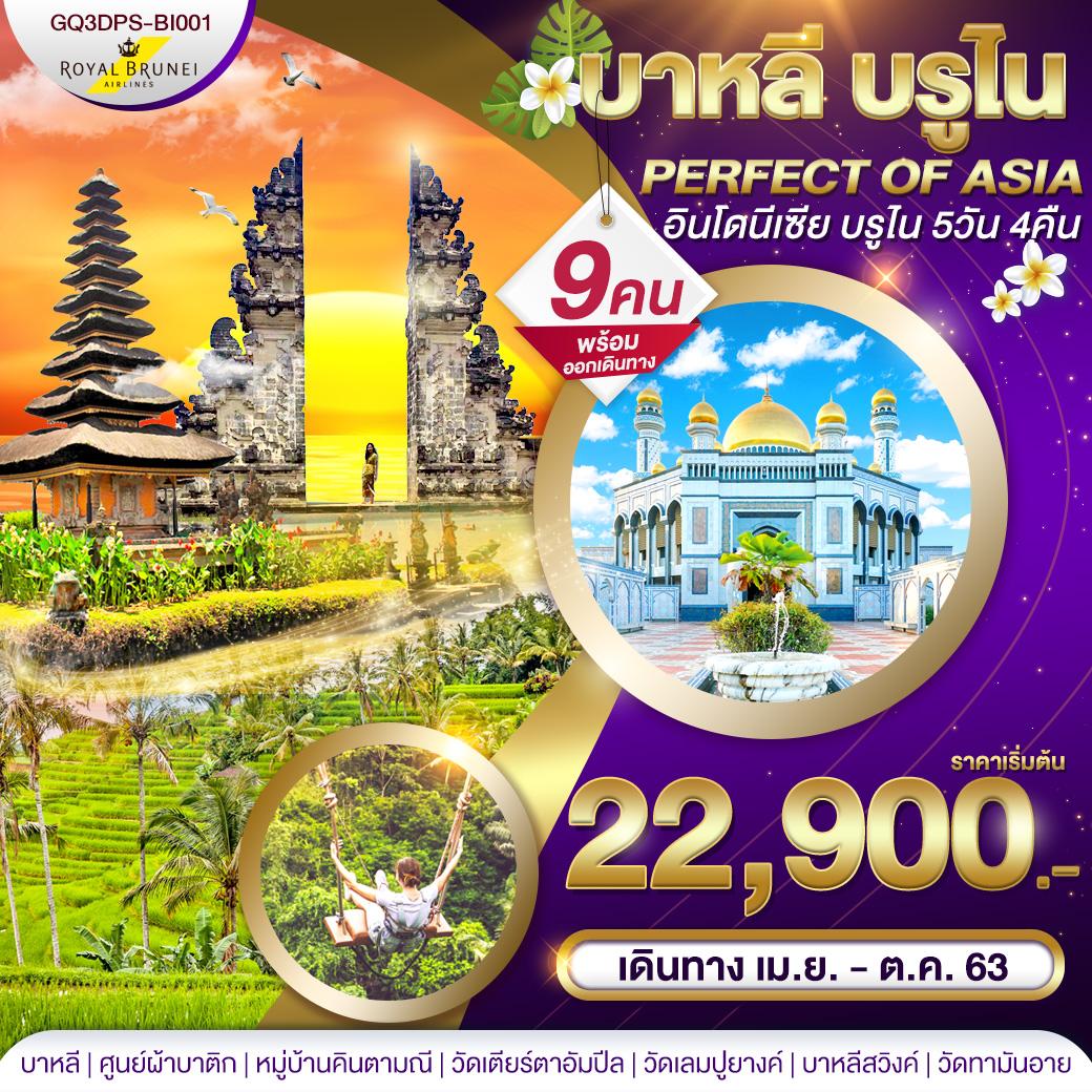 บาหลี บรูไน PERFECT OF ASIA อินโดนีเซีย บรูไน 5 วัน 4 คืน โดยสายการบินรอยัลบรูไน (BI)